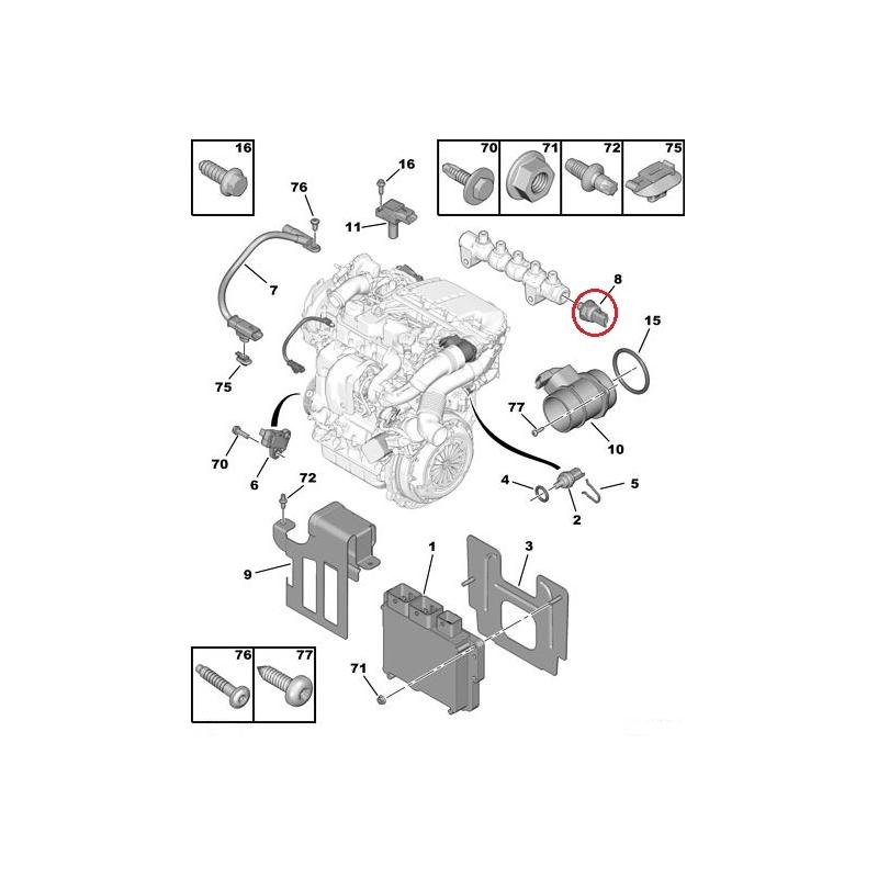Amazing Fuel Pressure Sensor Citroen Peugeot 1 6Hdi Dv6Dted Hmk Auto Wiring Cloud Brecesaoduqqnet
