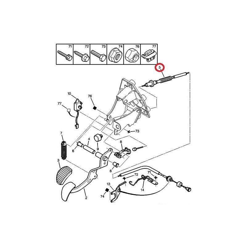 clutch cable citroen xsara picasso 1 6 1 6hdi 1 8 2 0 2 0hdi 99 hmk auto. Black Bedroom Furniture Sets. Home Design Ideas