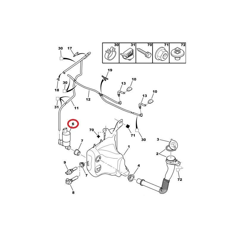 Windscreen Washer Pump Citroen C1 C5 Peugeot 307 607 Renault C7 2: Citroen C5 Estate Towbar Wiring Diagram At Ultimateadsites.com
