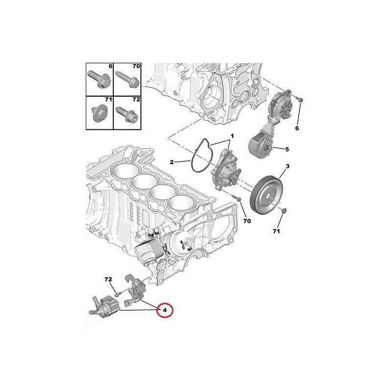 Electric Water Pump Citroenpeugeot 16 Ep6engines: Citroen Engine Parts Diagram At Hrqsolutions.co