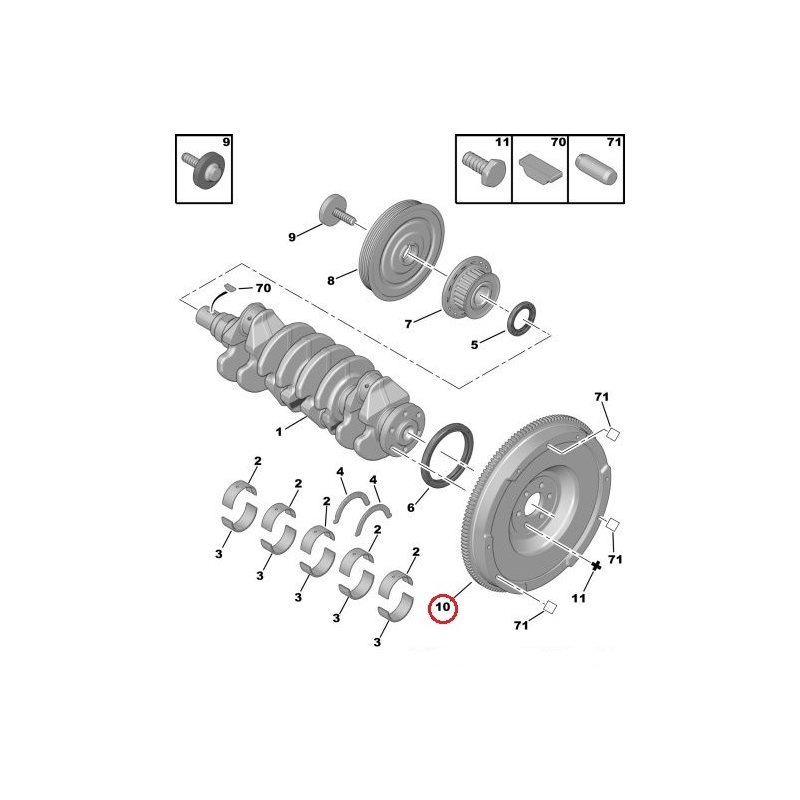 dual mass flywheel citroen  peugeot 1 6hdi   hmk auto
