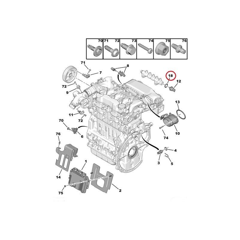fuel pressure sensor gasket citroen  peugeot 1 6hdi   hmk auto