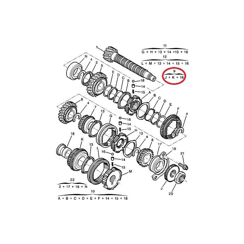 gear wheel pair  fifth gear jumper  boxer  ducato 58x35