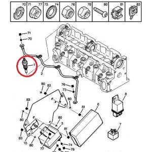 Glow plug OEM Citroen/Peugeot 1,9D DW8