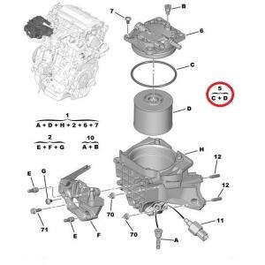 Топливный фильтр OEM Citroen/Peugeot/Fiat/Ford 2,0 HDI