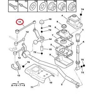 Gear lever linkage rod Peugeot 406/Citroen Xantia