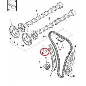 Timing chain slide rail bolt Jumper/Boxer/Ducato 2,2HDI 2006-