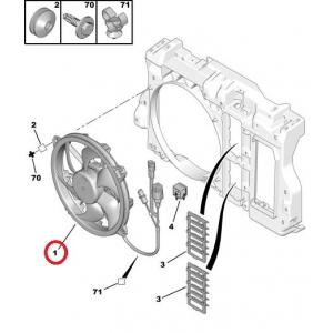 Вентилятор охладительный OEM Citroen C5, C6/Peugeot 407