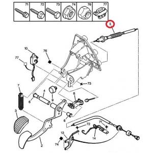 Clutch cable Citroen Xsara Picasso 1.6/1.6HDI/1.8/2.0/2.0HDI  99-