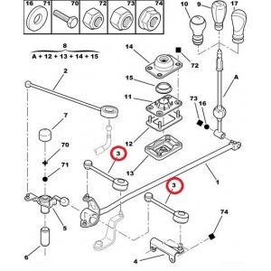 Шток вилки переключения передач OEM Peugeot Partner; Citroen Berlingo/Xsara