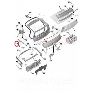 Tagaluugi gaasvedru Citroen C4 Coupe