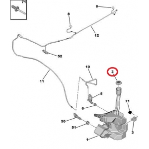 Washer fluid reservoir cap Peugeot/Citroen