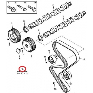 Timing belt kit OEM Citroen/Peugeot 2,0 16V