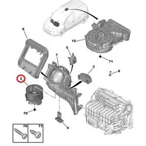 Interior blower Citroen C4 Picasso, Partner/Berlingo 08-