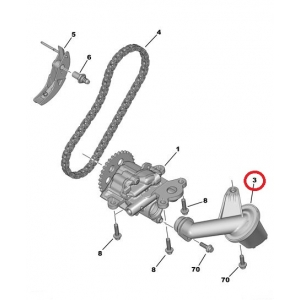 Маслозаборник Jumper/Boxer/Ducato 2,2HDI 2006- EURO4