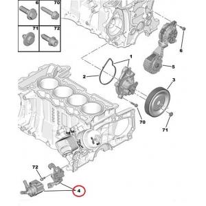 Electric water pump Citroen/Peugeot 1,6 EP6-engines