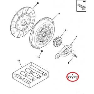 Clutch kit OEM Jumper/Boxer/Ducato 2,2HDI 06-