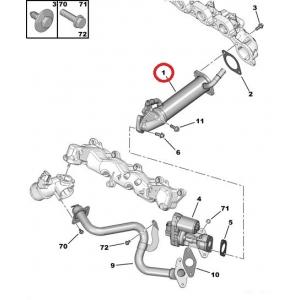 Jäähdytin, pakokaasukierrätys OEM Jumper/Boxer/Ducato 2,2HDI