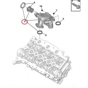 Termostaat koos korpusega Peugeot/Citroen 2,7HDi