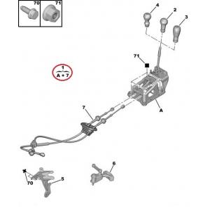 Käigukang kulissiga ja trossidega Citroen C2/C3 MA M.DV4