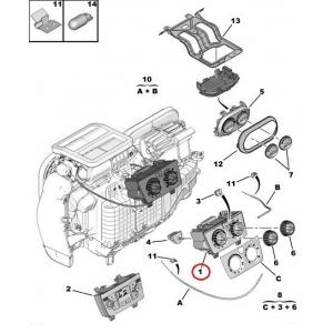 Блок управления саллоного подогрева Jumper/Boxer/Ducato 2006- (Без кондиционера)