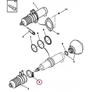 Tagavedrustuse silindri kaitsekummi kinnitusklamber Citroen C5