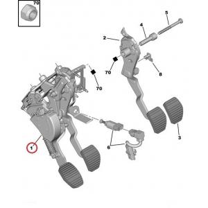 Piduripedaali lüliti Citroen/Peugeot