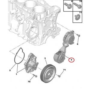 Натяжитель ремня Citroen/Peugeot EP-моторы