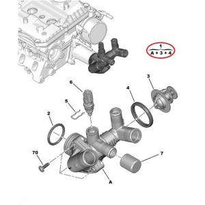 Termostaat korpusega Jumper/Boxer/Ducato 2,2HDI 2011-