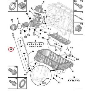 Öljytikku Citroen/Peugeot 1,8-2,0 16V