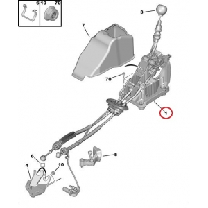 Vaijeri, käsivaihteisto Citroen C4/DS4 ML6C