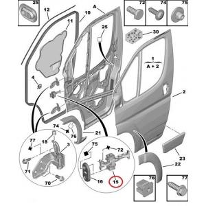 Ограничитель двери передний Jumper/Boxer/Ducato 2006->