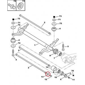 Torsion bar washer Peugeot 206