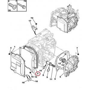 Tiiviste, vaihdelaatiko öljypohja AL4 , AT8, DP0