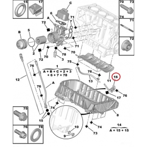 Õlitaseme andur Citroen/Peugeot 1,8-2,0 16V 04