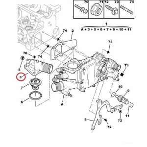 Coolant flange Jumper/Boxer/Ducato -2006 2,0HDI