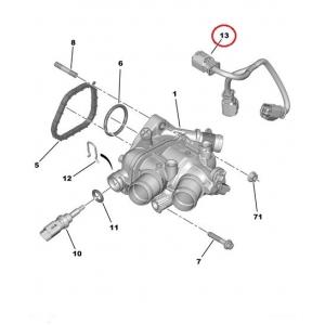 Termostaadi korpuse juhe PSA EP6-mootor