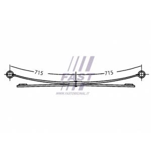 Рессора 2-листовая Jumper/Boxer/Ducato 06- (1+1)