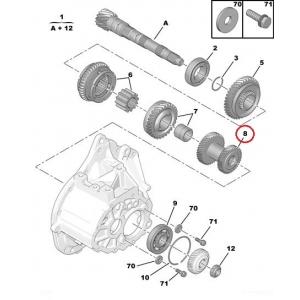 Шестерня 3-4ой передачи BE4N