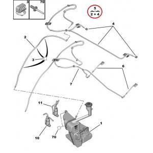 Klaasipesuri pihustite komplekt OEM Peugeot 508
