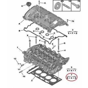 Tiiviste, ventiilikoppa Citroen/Peugeot EP3