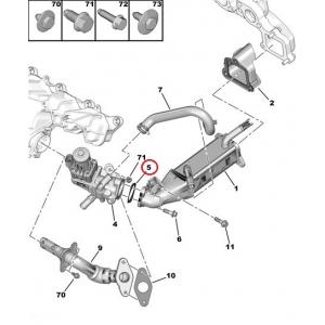 EGR valve gasket Jumper/Boxer/Ducato 2,2HDI 2006-