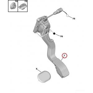 Accelerator pedal Citroen C4