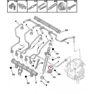 Форсунка Citroen/Peugeot 2,0HDI 16V