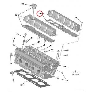Клапанная крышка выхлоп Citroen Peugeot EW7A / EW10A