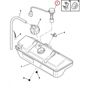 Coolant fluid level sensor PSA/Fiat