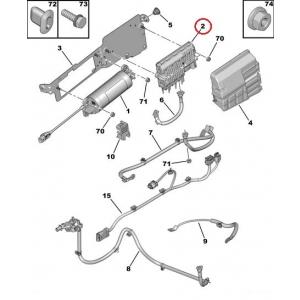 Блок управления системы Start/Stop Citroen/Peugeot