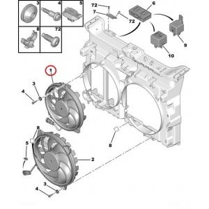 Вентилятор охлаждения OEM Citroen C8, Jumpy III/Peugeot 807