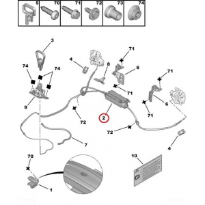 Käsijarru moottori + vaijerit Citroen C5 08-