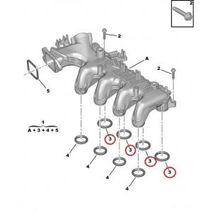 Intake manifold seal PSA/Ford/Mazda 1,6HDI